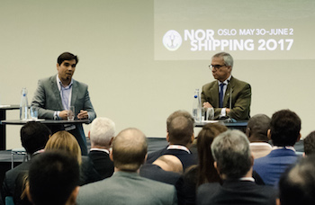 Juliano Dantas and Jorge Camargo. Photo courtesy of Ilja Hendel/Nor-Shipping.
