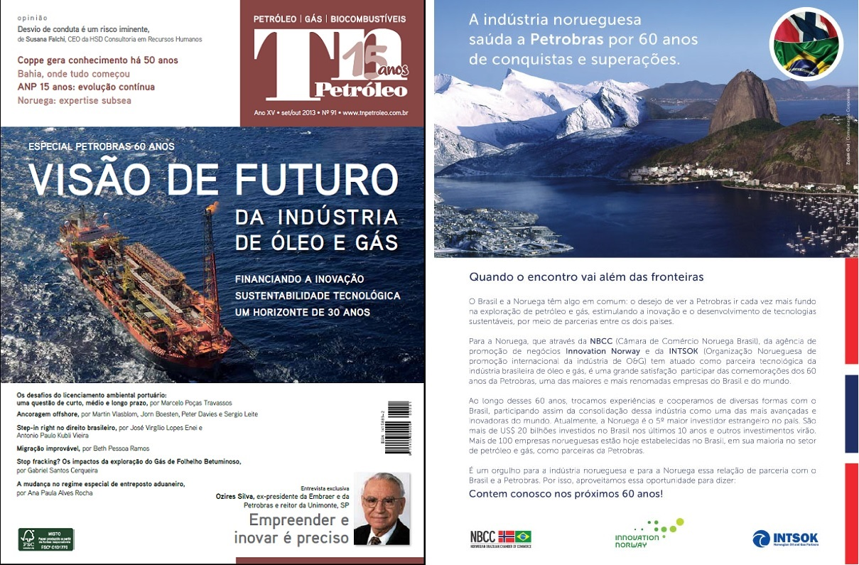 NBCC, Innovation Norway and Intsok on TN 91 - Especial Petrobras 60 anos
