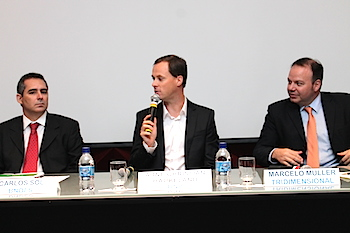 From the left; Carlos Sol (BNDES), Arne Christian Haukeland (DNB Brasil) and Marcelo Muller (Tridimensional).