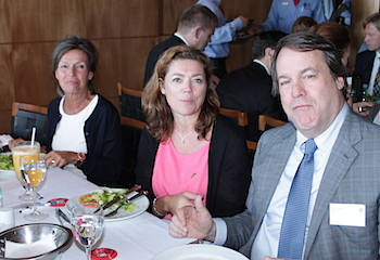 From the left: Consul General Helle Klem, NHO director Kristin Skogen Lund and DNBs Tom Mario Ringseth.