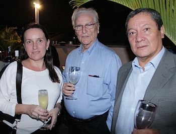 From the left: Tomax Branch Manager Ana Carla Porto, petroleum geologist Roberto Porto and Business Development Manager Carlos Cabrera,