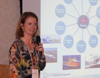 Hege Økland of the cluster NCE CleanTech.
